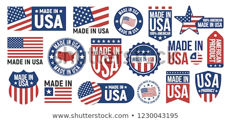 USA Label with National American Symbolism Banner Stock photo © robuart