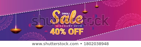 stylish diwali banner design template stock photo © sarts