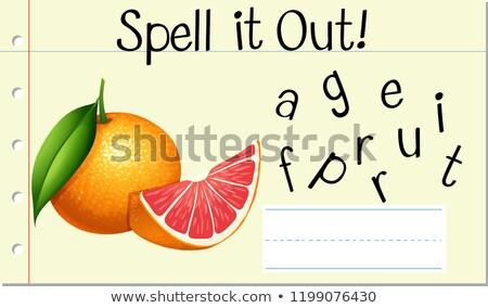 Büyü İngilizce kelime greyfurt örnek okul Stok fotoğraf © bluering