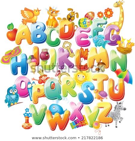 Spell english word cat Stock photo © bluering