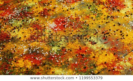 Spices spilt on surface Stock photo © dash