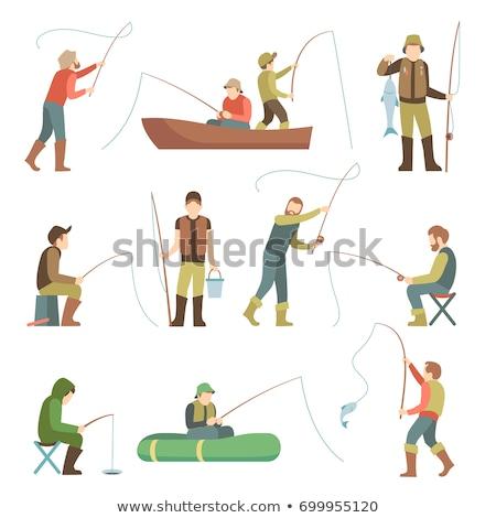 рыбалки · человек · человека · стержень · пруд - Сток-фото © robuart