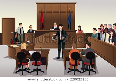 People in Court Scene Illustration Stock photo © artisticco