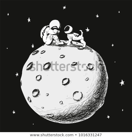 Sad Cartoon Asteroid Stock photo © cthoman