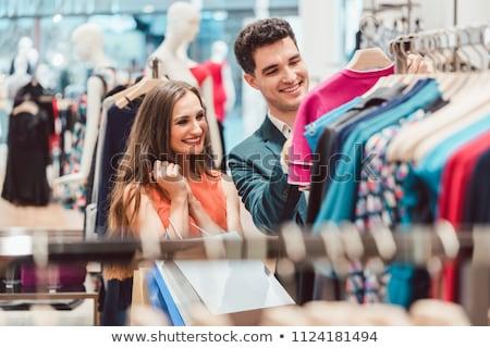 Paar winkelen mode hoog einde winkel Stockfoto © Kzenon