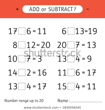 Worksheet design for subtraction Stock photo © colematt