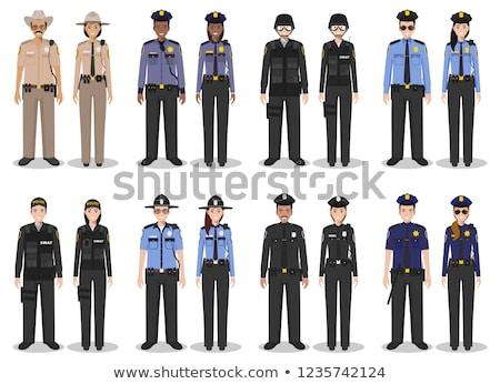 Police Policewoman and Man Vector Illustration Stock photo © robuart