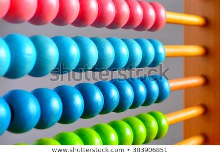 Crianças colorido ábaco ilustração escolas fundo Foto stock © bluering