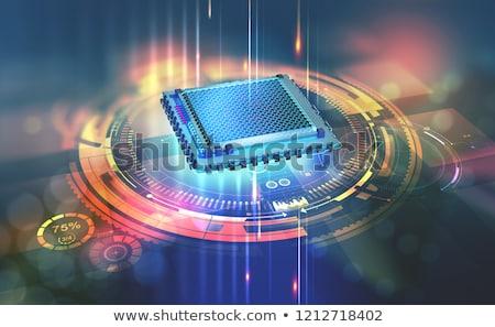 processzor · foglalat · számítógép · alaplap · technológia · háttér - stock fotó © andreus