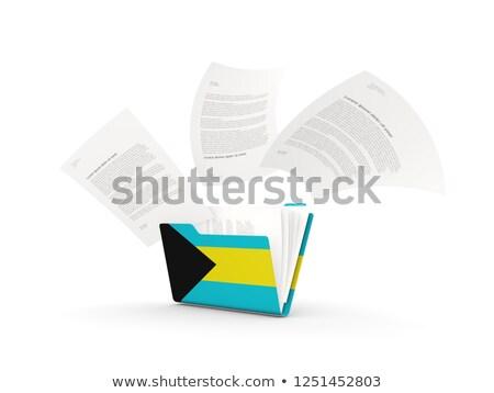 Dobrador bandeira Bahamas arquivos isolado branco Foto stock © MikhailMishchenko