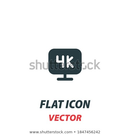 Modern Plasma TV Vector. Full HD 4k Screen. Isolated Home Television Display Flat Cartoon Illustrati Stock photo © pikepicture