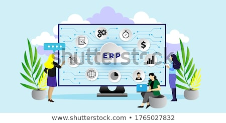 Stock photo: Enterprise accounting concept landing page.