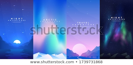 Four scenes of space with moon Stock photo © colematt