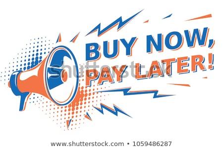 Mega árengedmény vegye meg most poszter plakátok szett Stock fotó © robuart