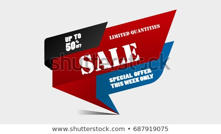 Only One Week Special Offer Sale Label Final Price Stock photo © robuart