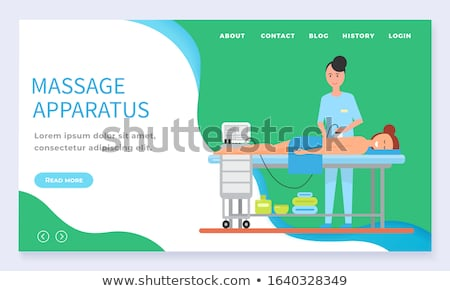 Massage Apparatus Machinery for Treatment Vector Stock photo © robuart