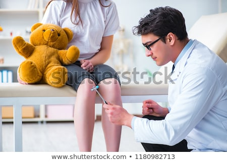 Arts knie reflex kind patiënt Stockfoto © AndreyPopov