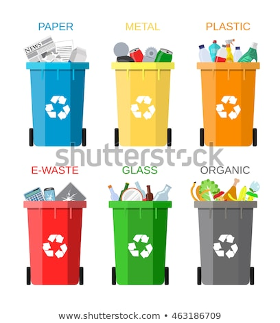 waste sorting   flat design style colorful illustration stock photo © decorwithme