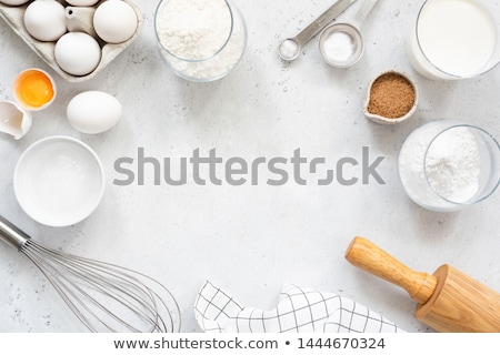 Сток-фото: Baking Or Cooking Ingredients Bakery Frame Dessert Ingredients And Utensils