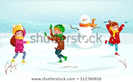 ストックフォト: 陽気な · クリスマス · 活動 · 子供演奏 · 子供 · 演奏