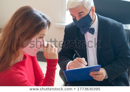 Woman Visiting Psychologist To Treat Depression Stock photo © AndreyPopov