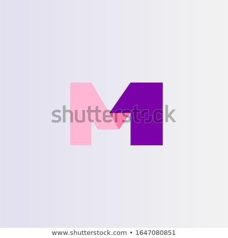 Levél szám logo ikon logotípus vektor Stock fotó © blaskorizov
