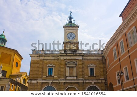 Old clock tower at Piazza del Popolo in Ravenna Stock photo © boggy