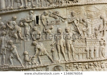 Detail of the Trajan column in Rome Stock photo © boggy