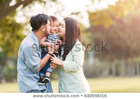 anya · etetés · kicsi · lánygyermek · nő · lány - stock fotó © deandrobot