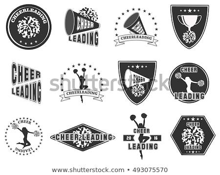 Cheerleader silhouet gedetailleerd school achtergrond Stockfoto © Krisdog