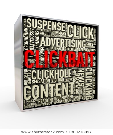 Photo stock: 3d Render Of Clickbait Tag Wordcloud