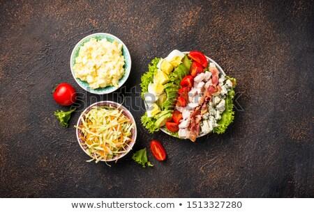 セット · 伝統的な · アメリカン · サラダ · 卵 · コールスロー - ストックフォト © furmanphoto