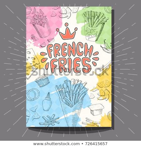 color vintage fast food banner stock photo © netkov1