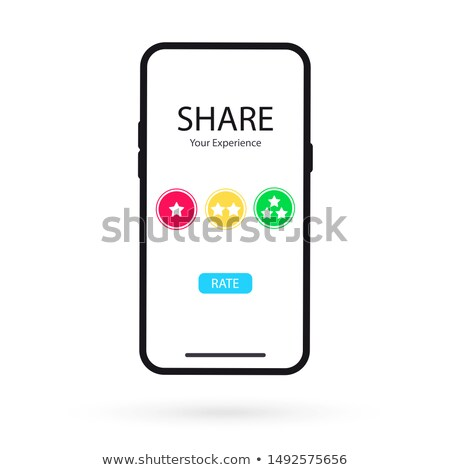 Share Experience Mobile Application Rating Vector Stock photo © robuart