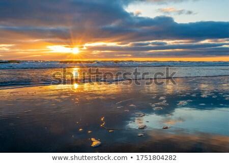 fantastic sunrise on the beach stock photo © serg64