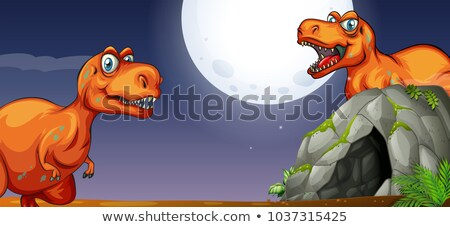 Iki mağara gece örnek doğa manzara Stok fotoğraf © colematt