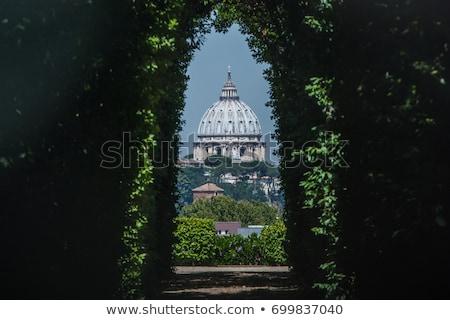 Kubbe aziz bazilika ünlü anahtar deliği villa Stok fotoğraf © hsfelix