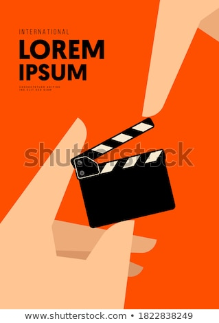 Clapperboard graphic design template vector illustration Stock photo © haris99