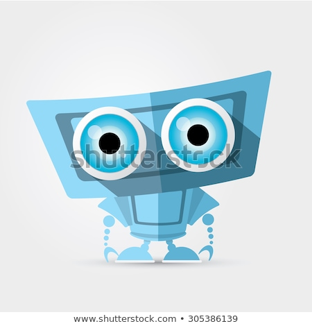 running robot cartoon comic character Stock photo © izakowski