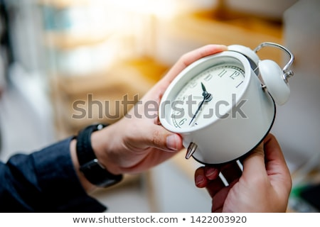 Daylight saving time. Set of clock time for Spring forward, Autumn back, Summer time Stockfoto © FoxysGraphic
