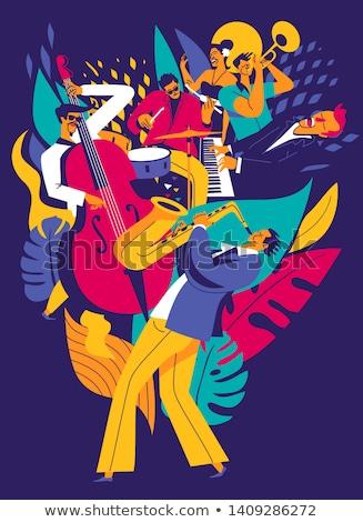 джаза · фестиваля · Creative · вектора · дизайна - Сток-фото © giraffarte