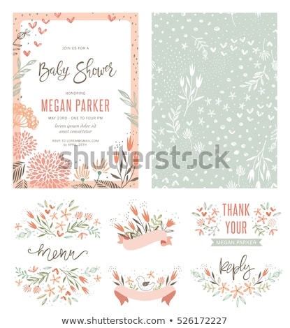 Baby Shower Elements Stock photo © netkov1