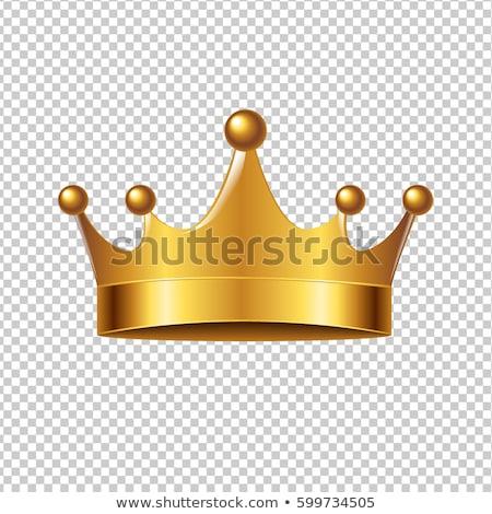dorado · corona · aislado · blanco · diseno · signo - foto stock © adamson