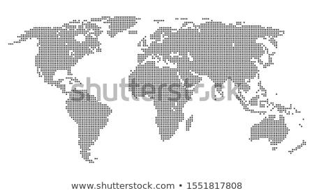Dünya haritası kare noktalı stil yalıtılmış beyaz Stok fotoğraf © kyryloff