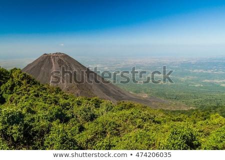 Vulkán mikulás El Salvador égbolt tájkép kék Stock fotó © benkrut
