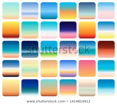 30 sunset sky gradients backgrounds set vector sunset and sea colors stock photo © marysan