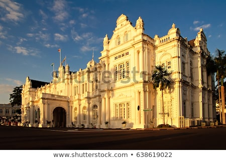 city hall in george town   penang malaysia british built historical building completed 1903 became stock photo © galitskaya