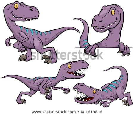 Dinozaury gatunek zestaw cartoon ilustracja gad Zdjęcia stock © izakowski