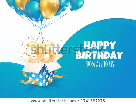 Aniversario nacimiento celebración número vector invitación Foto stock © pikepicture