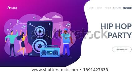 ヒップホップ 音楽 着陸 ヒップホップ 歌手 ストックフォト © RAStudio